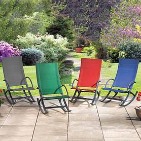garden rocking chair  red