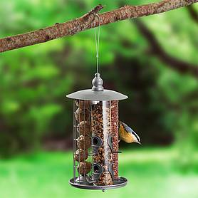 Kingfisher Metal 3 in 1 Suet Fat Ball, Seed And Nut Feeder with Tray