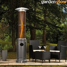 Garden Glow Circle Flame Gas Patio - Graphite