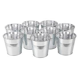 Garden Grow Nine-piece Zinc Planter Set