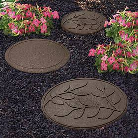 Reversible Eco-Friendly Stepping Stone Leaves - 4 Pack