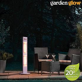 garden glow w freestanding patio heater  grey