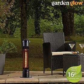 Garden Glow Electric Freestanding 1200W Patio Heater with Remote