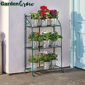 Three-tier Highbury Folding Metal Plant Stand