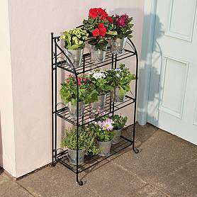 threetier highbury folding metal plant stand