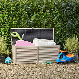 garden gear litre lockable garden storage with sit on lid
