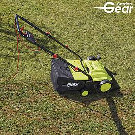 garden gear in lawn rake and scarifier