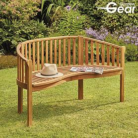 garden gear acacia person banana bench