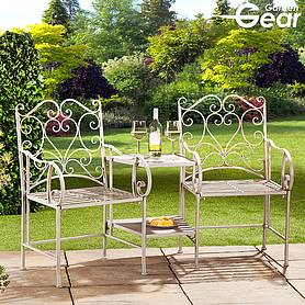 garden gear metal heart love seat