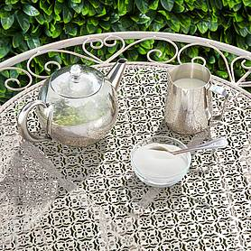 garden gear metal heart bistro set