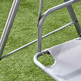 garden gear person swing seat with adjustable canopy
