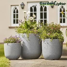 Garden Grow 3-Pack of Granito Egg Planters