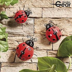 Garden Gear Set of 3 Metal Ladybirds