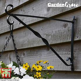 garden grow hanging basket wall bracket cm x cm
