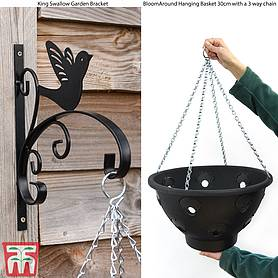 Hanging Basket King Swallow Garden Bracket Set