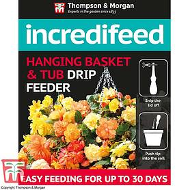 incredifeed hanging basket  tub drip feeder