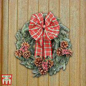 traditional tartan wreath  gift