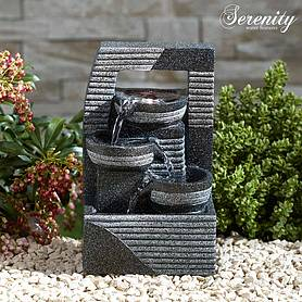 Serenity Table-Top Cascading Bowl Tower Water Feature