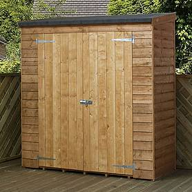 6 x 2' 6 Value Overlap Modular Pent Storage Shed