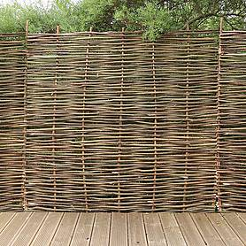 hazel hurdle decorative woven garden fencing panel ft x ft  m x m natural woven wattle fencing