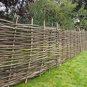 Hazel Hurdle Decorative Woven Garden Fencing Panel 6ft x 3ft - (1.8m x 0.9m) Natural Woven Wattle Fencing