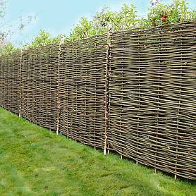 Hazel Hurdle Decorative Woven Garden Fencing Panel 6ft x 6ft - (1.8m x 1.8m) Natural Woven Wattle Fencing