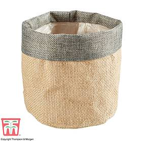 Grey Top Jute Bag Pot