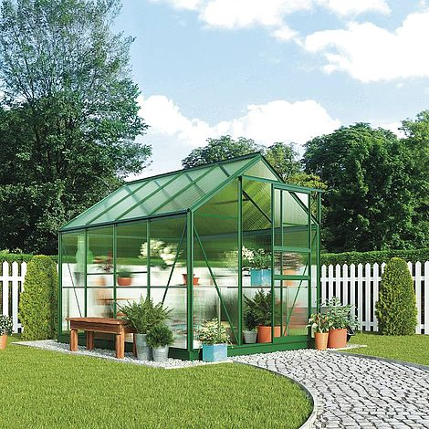 Garden grow traditional greenhouse 6 2 x 8 3 x for Green home guide