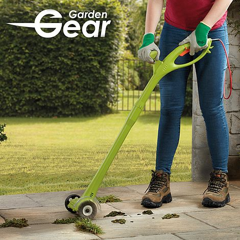 Path Edges Cordless Weed Sweeper with 2000mAh Rechargeable Battery and Charger 2 Brushes Patio Weeding Tool for Driveway DDLL Electric Weed Moss Cleaning Tool Telescopic Handle Slabs