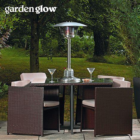 garden glow 4kw table top gas patio heater thompson morgan - Gas Patio Heater