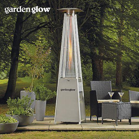 garden glow 13kw square flame gas patio heater thompson morgan - Gas Patio Heater