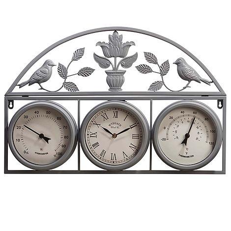 Garden Wall Clock Grey L66 X W43 5 X H6cm Thompson