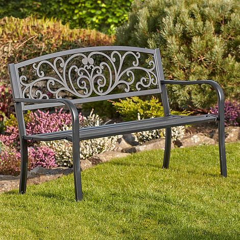 Peachy Garden Life Henley Metal Garden Bench Ibusinesslaw Wood Chair Design Ideas Ibusinesslaworg