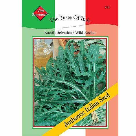 Wild Rocket (Rucola Selvatica) - Vita Sementi® Italian SeedsDiplotaxis  tenuifoliaArugula, Rucola, Roquette, Mediterranean Rocket, Annual  Wall-Rocket