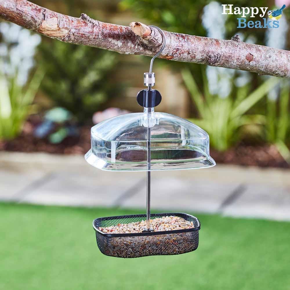 Image of Hanging Adjustable Small Bird Feeder with Baffle