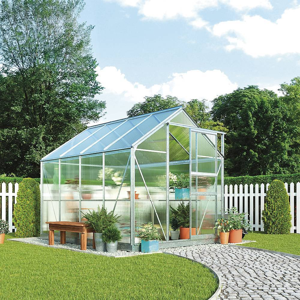 Low Maintenance Landscaping Ideas For A Stress Free 2018: Garden Grow Traditional Greenhouse 6.2 X 8.3 X 6.6ft