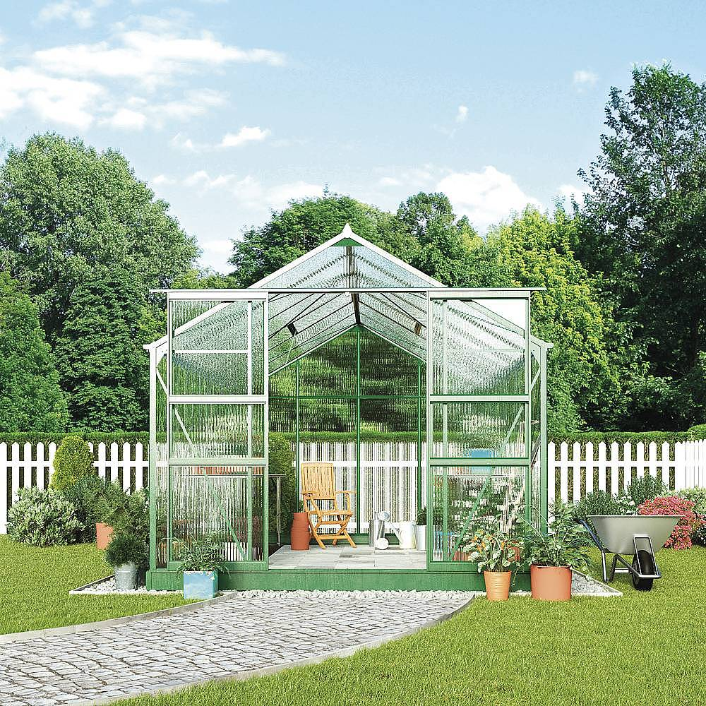 Low Maintenance Landscaping Ideas For A Stress Free 2018: Greenhouse 8.1 X 12.1 X 7.4ft