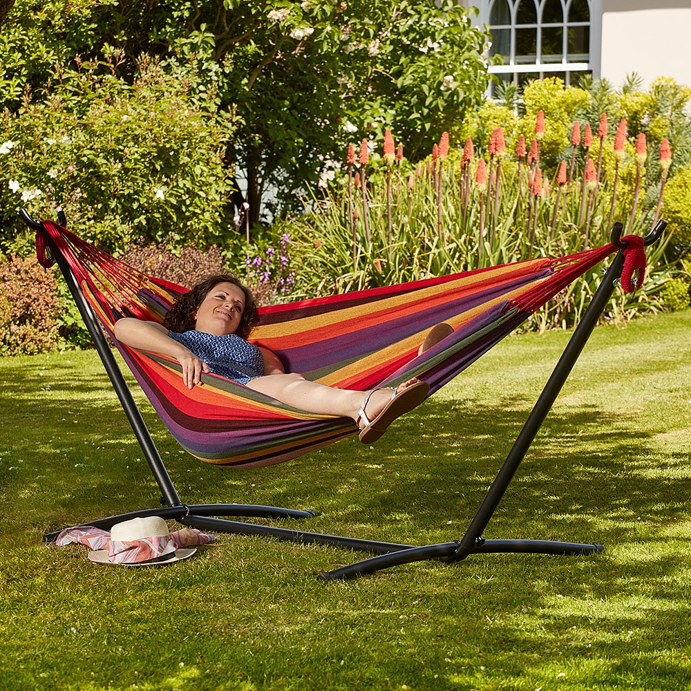 hammock with someone lying inside