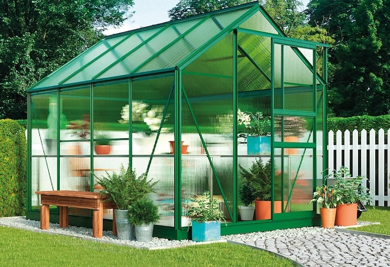 Garden Grow Traditional Greenhouse 6.2 X 8.3 X 6.6ft from Thompson & Morgan