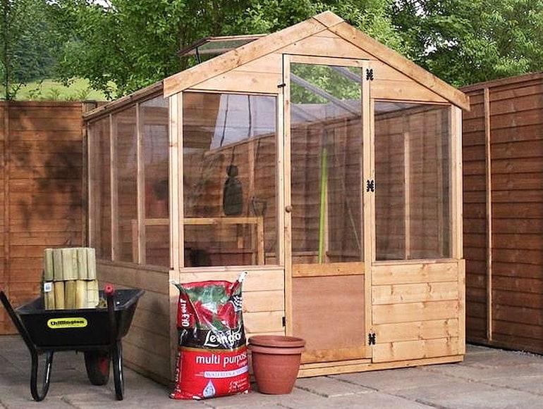8 x 6 Waltons Evesham Wooden Greenhouse from Thompson & Morgan