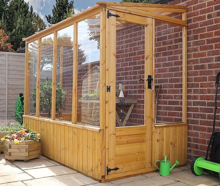 8 x 4 Waltons Lean-to Pent Wooden Greenhouse from Thompson & Morgan