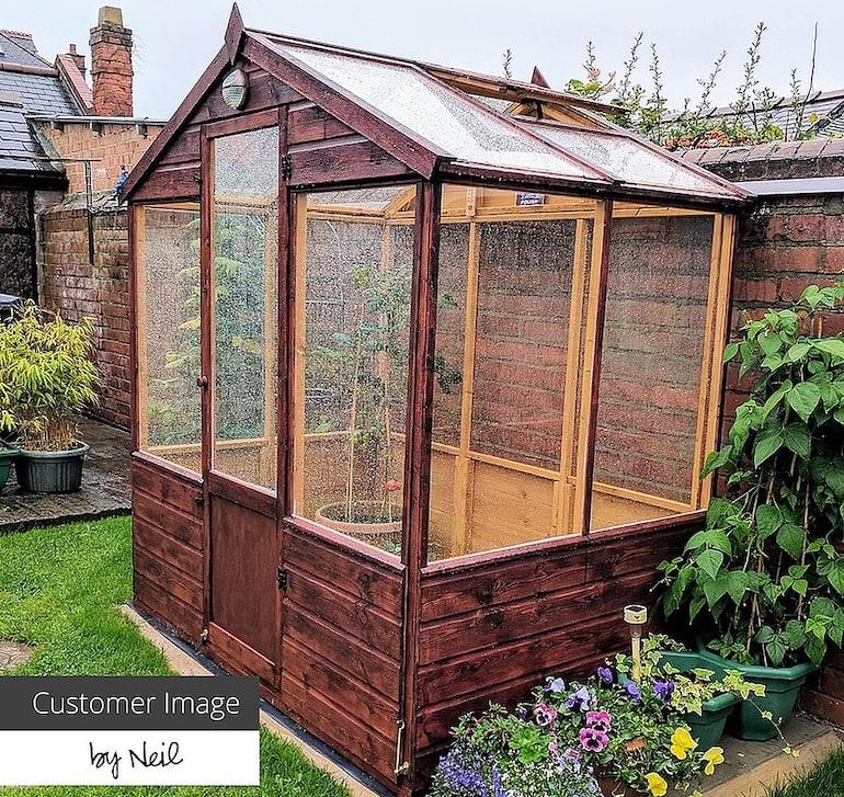 6 x 4 Waltons Evesham Wooden Greenhouse from Thompson & Morgan