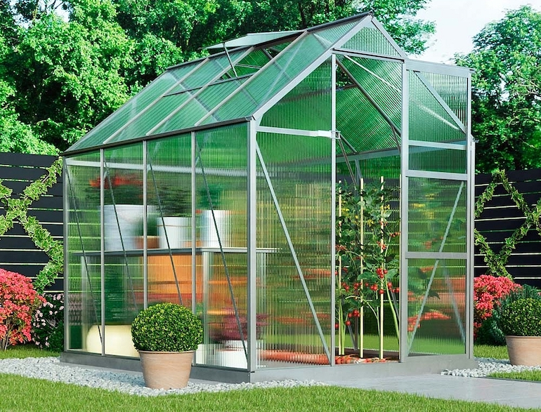 6ftx8ft Garden Grow Deluxe Greenhouse from Thompson & Morgan