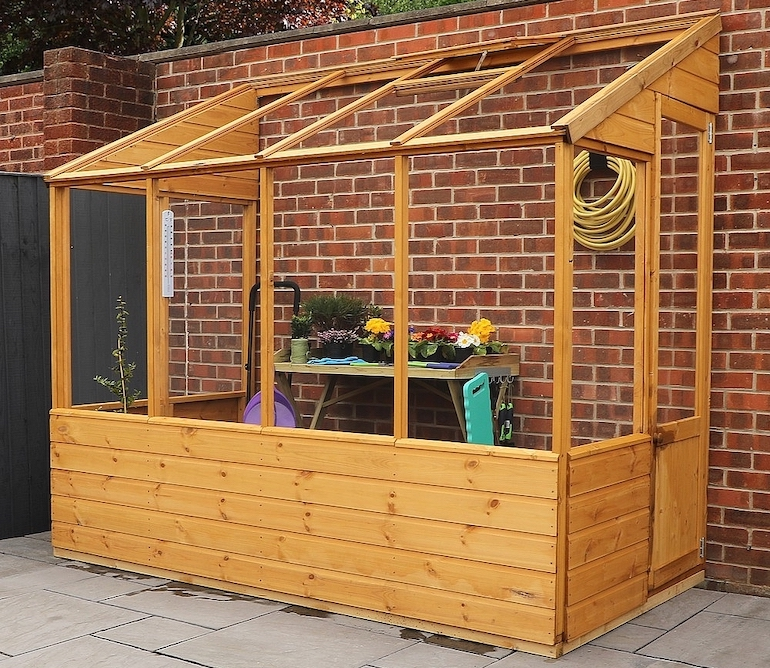 8 x 4ft Wooden Lean To Greenhouse from Thompson & Morgan