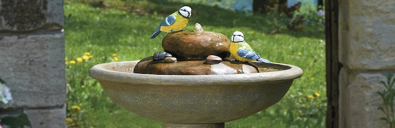 Ornamental Bird Fountain Bath from Thompson & Morgan