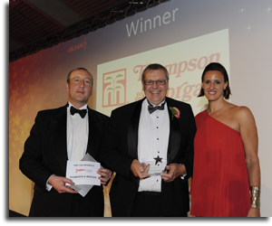 Paul Hansord, Thompson & Morgan Managing Director, accepts the Anglian Business Award 2012 for Innovation