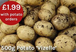 500g pack Potato Vizelle only £1.99 with your potato order