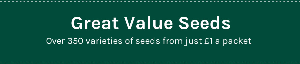 Value Seeds - over 350 varieties of flower & vegetable seeds from just £1