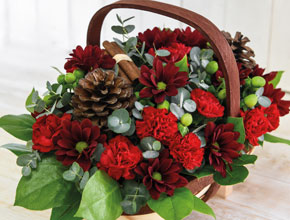feeling festive flower basket