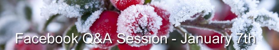 Facebook Q&A Session Januay 7th